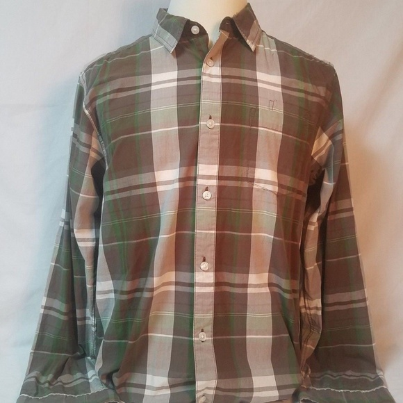 d114fdce5 The north face size L mens Green plaid LS Shirt